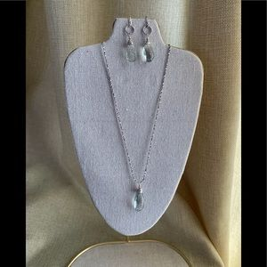 Gorgeous Green Amethyst Necklace & Earrings